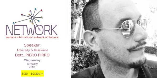 "Speaker: Dott. PIERO PIRRO, ""Adversity & Resilience"""