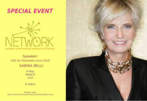 Sabina Belli, CEO Pomellato Special guest speaker for Women's International Network